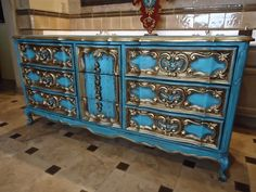 Dresser Paint Idea. I Like The Thought Of Using Gold To Accent The Details  Of