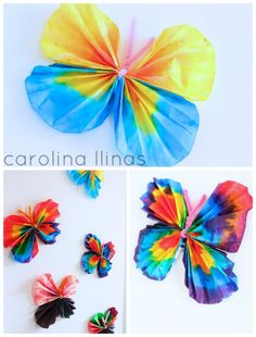 manualidad-mariposas-niños Diy And Crafts, Crafts For Kids, Arts And Crafts, Craft Activities, Toddler Activities, Butterfly Kids, Diy Fan, Garden Theme, Art Party