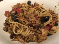 Chicken pasta with olive!