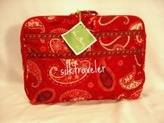 Vera Bradley Little Travel Case packing cube tablet diaper tote Mesa Red retired VHTF NWT