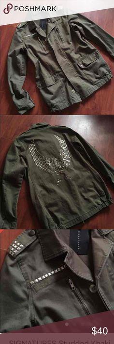 Signature studded jacket Studded khaki jacket signature Other