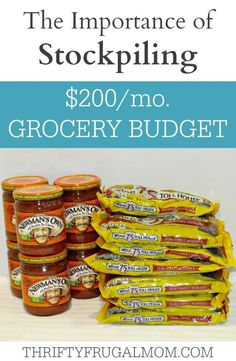 Having a grocery stockpile is one of the biggest things that helps us have a $200/mo. grocery budget. Find out why I think it's such an important way to save money on groceries and how anyone can easily do it!