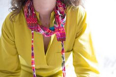 Womens Festival Clothes, Burning Man Clothing, Multi Strand Necklace, Colorful Necklace, Hippie Necklace, Boho Necklace, Hawaiian Jewelry  This piece was created for the Hippie style lovers in mind, using a fabulous 100% cotton fabric with a unique pattern print. The fabric is so soft you will not want to take it off. If you like the Boho/Hippie/Festival trend and style - this accessory would be PERFECT for you!  This neckwear is a unisex and multi-purpose item that you can also wea...