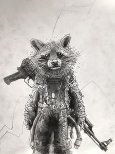 Rocket Raccoon // The Guardians Of The Galaxy // By: Tomas Overbai