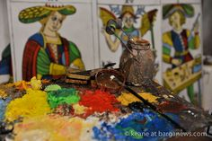 http://www.barganews.com/2016/01/20/the-tarot-card-paintings/  The Tarot card paintings  Work in progress by Keane based on the The Tarot of Marseille restored by Philippe Camoin and Alexandre Jodorowsky