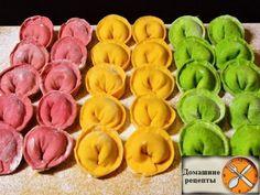 Цветное тесто для пельменей и необычные начинки