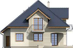 Elewacja ARD Kasztan 3 paliwo stałe CE Design Case, Window Design, Teds Woodworking, Dom, My House, House Plans, Cabin, Mansions, House Styles