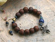 Bodhi Seed wrist mala bracelet - look4treasures on Etsy, $37.95
