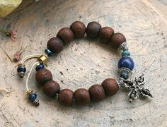 Bodhi Seed wrist mala bracelet by look4treasures on Etsy