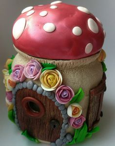 Tooth fairy house jar. TOOTH FAIRY HOUSE. Handmade gift for children. Decorative box. Polymer clay Girls and boys  Birtday gift. teeth gift.