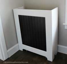 Picture tutorial for how to make a DIY radiator cover. This is a project that can be done in a day, but can really make an impact on any space.