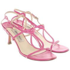 38312026c17f7 Pre-owned Sandals in pink ($160) ❤ liked on Polyvore featuring shoes,