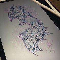 Spooky Tattoos, Tattoos Skull, Foot Tattoos, Animal Tattoos, Chest Tattoo Drawings, Tattoo Sketches, Bat Sketch, Piercing Tattoo, Piercings