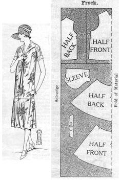 1920th FLARED FROCK. Pattern dress http://100megspop3.com/adira/pattern26.htm