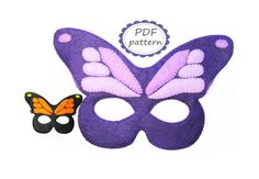 PDF patrón mariposa fieltro máscara coser por FeltFamilyPatterns