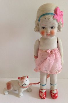 Japan porcelain girl pink bow, girl with huge pussy