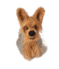 Custom Dog Portrait - Needle Felted Dog - Origonal Puppy Soft Sculpture. - Yorkshire Terrier - Yorkie - small size