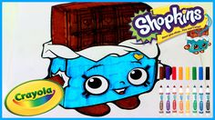 SHOPKINS Coloring - CHEEKY CHOCOLATE - Coloring with Crayola Markers - C...