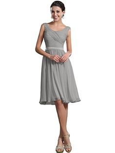 Topwedding Simple Short Chiffon Bridesmaid Dresses with Ribbon Sash Multi-color,#73 Silver,S14 Topwedding http://www.amazon.com/dp/B00WQFX0CM/ref=cm_sw_r_pi_dp_tLSPvb0CAAMC6