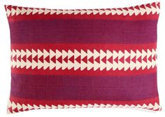 magenta arrow pillow