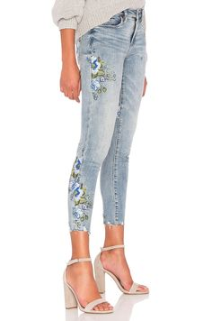 BLANKNYC Embroidered Skinny Jean in Back to Nature | REVOLVE