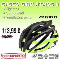 El #casco #Giro #AtmosII ofrece rendimiento, estilo y comodidad como pocos cascos de #ciclismo de #carretera de gama alta lo hacen. En deporprecio a un ¡¡¡GRAN #PRECIO!!! Pincha aqui ---> http://www.deporprecio.com/es/1210-casco-giro-atmos-ii.html#/talla-m/colores-negro_mate_amarillo_fluor #deporprecio #bikelife #ciclismocarretera #cascocarretera #oferta