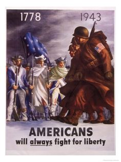 The Low Information Voters and the Leftist Liberal Termites are Eroding the Freedoms that have been so Bravely Fought For, For So Long. We Must Continue to Fight For Our Freedoms Too - Do Not Ever Give Up ! Poster From WW II.