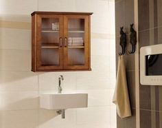 Bathroom Wall Cabinet Medicine Kitchen Shelf Cupboard Glass Display Storage Home #BathroomWallCabinet