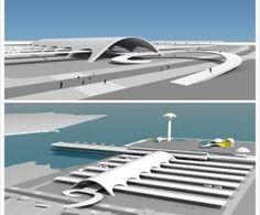 Este projeto será uma estação intermodal, que integrará três meios de transporte: ônibus, metrô e barcas.