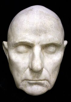 Daniel Webster, 1782-1852  life mask, from the original by Clark Mills.