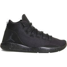 9daaae13461 Nike Jordan Reveal leather and mesh trainers ($100) ❤ liked on Polyvore  featuring shoes, black shoes, genuine leather shoes, nike, black lace up  shoes and ...