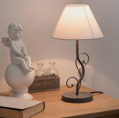 Lampe de chevet métal et abat-jour ...