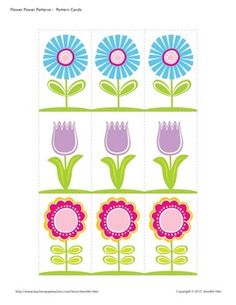 Flower patterning activities for your preschool and pre-k, spring and summer learning centers!*please note that this product is included in my flower power Motor Activities, Writing Activities, Preschool Activities, Card Patterns, Flower Patterns, Block Patterns, Learning Centers, Early Learning, Alphabet Tracing