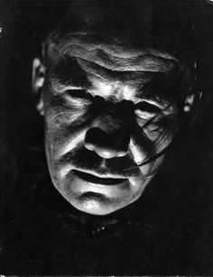 Virna Haffer :: 'Model a la Chinese' - portrait of man, face strongly lit from below, 1930's