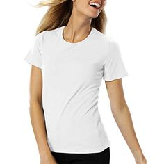 Amy Alder Womens Classic-Fit Basic T-shirt in White adds soft premium Egyptian cotton to your red, white and blue celebration. Only at GuyGifter!