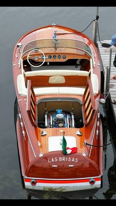 Wooden Italian Hand-Made Sport Runabout. Yacht Design, Boat Design, Speed Boats, Power Boats, Riva Boot, Bateau Yacht, Classic Wooden Boats, Classic Boat, Classic Yachts