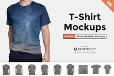 T-Shirt - Apparel Mockups by Photific on @creativemarket