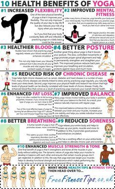 10 Health Benefits Of Yoga Infographic