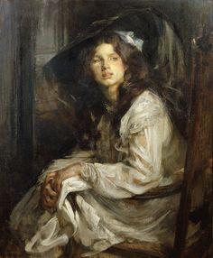 james jebusa shannon art | ... su una sedia di James Jebusa Shannon (1822-1923, United Kingdom