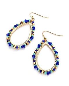 beaded teardrop earrings | Shop Online at Addition Elle Addition Elle, plus size, fashion, trends, summer essential #AdditionElleSurLaRoute