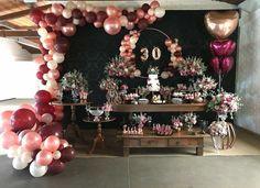 30th Party, 30th Birthday Parties, Birthday Party Decorations, Birthday Celebration, Wedding Decorations, Balloon Centerpieces, Balloon Garland, Balloon Decorations, Balloons