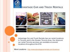 We offer short term and long term car rental services for passenger cars. we provide you the best car rental deals that match your desires and fall in your budget!  Visit here: http://www.slideshare.net/advantagecarrentals/car-rental-63510244