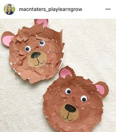 Fall Autumn Forest Woodland Goldilocks and the three bears book Bear craft Bear Activities Preschool, Bear Theme Preschool, Preschool Crafts, Preschool Activities, Teddy Bear Crafts, Teddy Bear Day, Toddler Art, Toddler Crafts, Goldilocks And The Three Bears