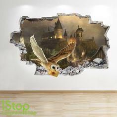 HARRY POTTER WALL STICKER 3D LOOK - BEDROOM KIDS HOGWARTS WALL DECAL Z616 | eBay