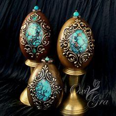 Oksana Grabowska OxiGra Pisanki z wydmuszek gęsich ręcznie malowane www.polandhandmade.pl #polandhandmade #ornament #eggs #handpainted