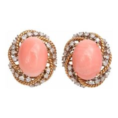 Hair and Jewelry / coral earrings #want found on Polyvore