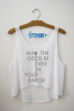 May The Odds Be Ever in your favor Fresh Tops Crop Top
