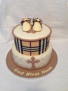 Burberry Baptism Cake!