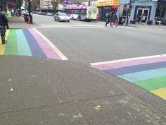 Rainbow Crosswalk on Davie Street!! Copyright @ItsAllenQuinn