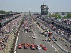 In 1905, Indianapolis businessman Carl Fisher envisioned building a speedway to test cars before they went to market. Four years later, ground was broken -- and the Indianapolis Motor Speedway was born. Since that time, the speedway has been the site of 248 automobile races -- and sees crowds of more than 400, 000 people in what is the world's highest-capacity stadium facility.